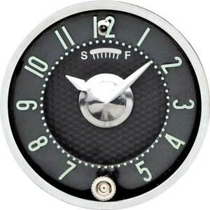 1955 56 Fullsize 1958 62 Corvette In dash Clock With Quartz Movement Black Face