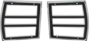 1968 Dodge Dart Tail Lamp Bezels