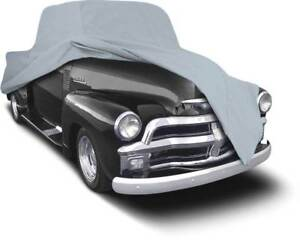 1955 59 Chevrolet gmc Longbed Pickup Truck Gray Softshield Flannel Cover