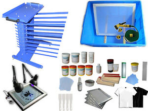 Screen Printing Rack Press Kit Squeegee Screen Frame Exposure Storage Cart