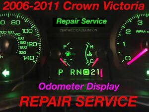 Repair Service 2008 Ford Crown Victoria Cvpi Gauge Cluster Odometer Display 08