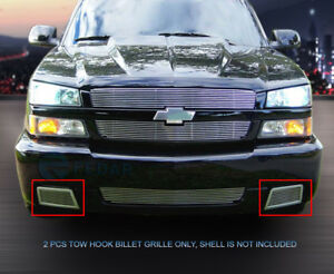 For 2003 2006 Chevy Silverado 1500 Ss Billet Grille Tow Hook Grill Insert Fedar