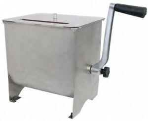 Meat Mixer 20lb Capacity Stainless Mixing Handle Kitchen Handle Foot Pad Mixing