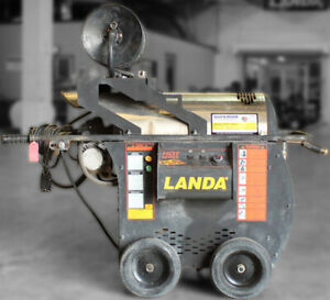 Used Landa Hot2 115 Volt Diesel 2gpm 1500psi Hot Water Pressure Washer W reel