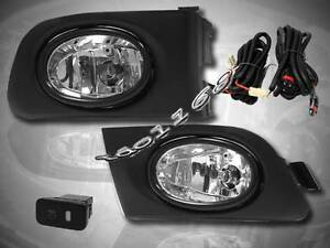 Fit For 2001 2003 Honda Civic 2dr 4dr Fog Lights Kit switch Wiring Harness