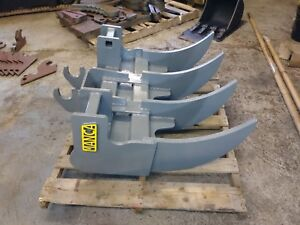 Caterpillar 305 Mini Excavator 36 Root Rake With Ar400 1 Tines