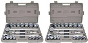 42pc Metric Sae 3 4 Drive Socket Set W Storage Case Jumbo Ratchet Wrench 0 Ship