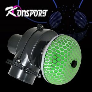 3 Inch Intake Electric Supercharger Turbo Fuel Saver Filter Custom Green 3 6 Hp