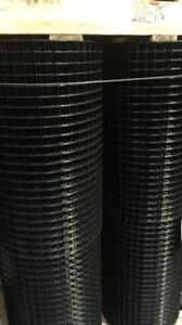 1x1 16g 24 x100 Black Pvc Coated Welded Wire Mesh Rolls gaw