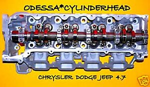 Chrysler Dodge Jeep Cherokee 4 7 Sohc Cylinder Head Right Side Right New Lifters