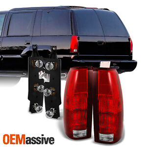Fit 88 99 C K Chevy Gmc Suburban Tahoe Truck Tail Lights W Bulb Connector Plate