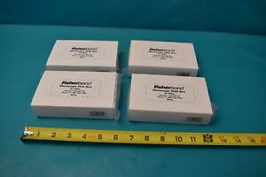 New 4 Fisherbrand Microscope Slide Box 25 Slides Per Box