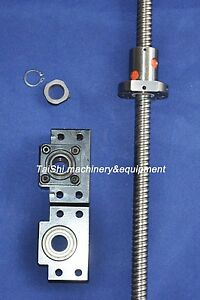 1 Anti Backlash Ballscrew Rm2510 500mm c7 bk bf15 Bearing Blocks End machined