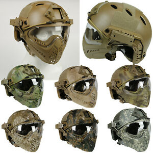 Fast Tactical Helmet Goggles Lens Full Face Mask Outdoor Activities Practical