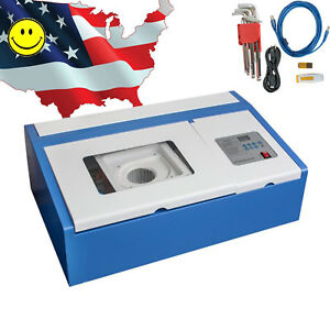 Us High Precise 40w Co2 Laser Engraving Cutting Machine Engraver Cutter Usb Type
