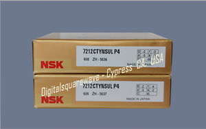 Nsk 7212ctynsulp4 Abec 7 Super Precision Spindle Bearings Matched Set Of Two