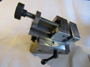 Precision Tilt Rotate Swivel Grinding Inspection Vise W Case Price Reduced