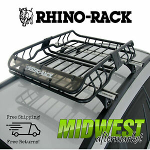 Rhino Rack Roof Mount Cargo Basket W Fairing Fits 2011 2017 Jeep Grand Cherokee