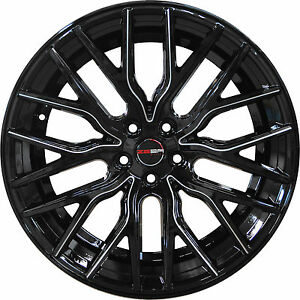 4 Gwg Wheels 20 Inch Black Mill Flare Rims Fits Lincoln Mkc 2015 2018