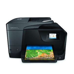 Hp Business Officejet Pro Wireless All in one Color Photo Printer Copy Fax Scan