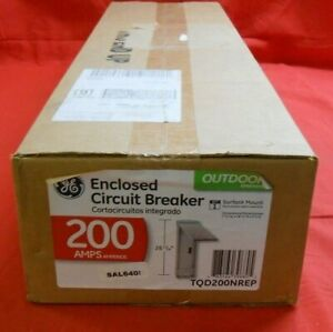 Ge Tqd200nrep 200 Amp Outdoor Enclosed Circuit Breaker New In Box