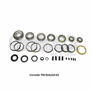 T56 Corvette Rebuild Kit C5 C6 Tremec 6 Speed Bearing Synchro Seals Fork Pads