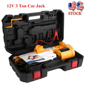 3 Ton Heavy Duty Electric Jack Truck Cars Emergency Repair Lifting Tool Portable
