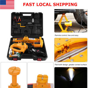 3ton Automotive Electric Scissor Car Jack Lift Dc 12v Wrench 1 2 Impact Wrench