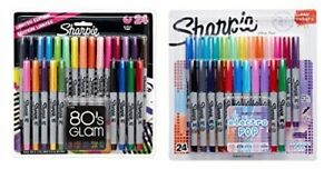 Ultra fine Point Permanent Markers 80s Glam And Electro Pop Colors 48 pack