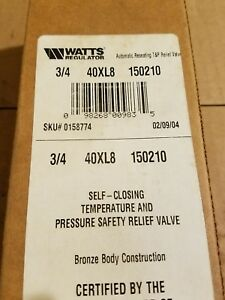 Watts 3 4 T p Valve 40xl8 M15 Part 0158774
