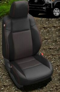 2016 2020 Toyota Tacoma Double Cab Custom Katzkin Leather Seat Covers 2017 2018