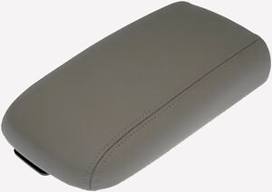 Synthetic Leather Gray Console Lid Armrest Cover Fits 07 14 Chevrolet Traverse