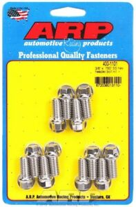 Arp 400 1101 Stainless Steel Header Bolts 6 Point 3 8 16 Small Block Chevy Sbc