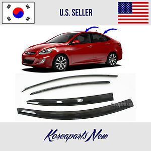 3d Smoked Door Visor Window Deflector Fits For Hyundai Accent Sedan 2012 2017