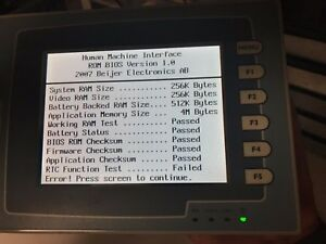 Beijer Electronics H t60t s Operator Interface 24 Vdc overnight Shipping