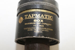 Tapmatic Reversible Tap Tapping Head 80x 1 1 8 Cap W 1 Shank