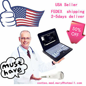 Convex Probe Portable Notebook Laptop Ultrasound Machine Scanner System Digital