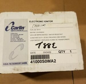 Carlin Electronic Ignitor Used W Wayne E Burners Part 41000s0wa2
