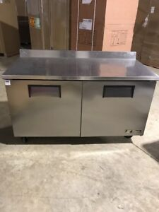 True Twt 60f 60 Conmercial Worktop Freezer 2 Door Commercial Used Undercounter