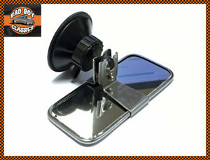 Classic Car Stainless Steel Rear View Interior Mirror Universal Suction Mount