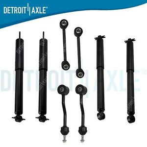 New Front Rear Shock Absorbers Front Rear Sway Bar Links For Jeep Wrangler