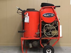 Used Alkota 4302 Hot Water 1ph Diesel 4gpm 3000psi Pressure Washer