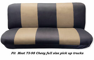 Mesh Black tan Full Size Bench Seat Cover Fits Most 73 99 Chevy F s P u Trucks