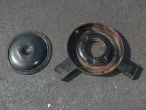 1973 1975 Chevy Corvette Cowl Induction Dual Snorkel Air Cleaner Base W top