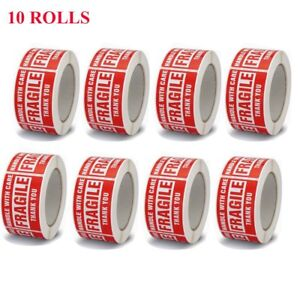 10 Rolls 3x5 Fragile Handle With Care Stickers Shipping 3000 Labels 500 roll Red