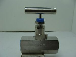 Hv ss 1 2 hs 180 fxf Ss Hex Body Needle Valve 1 2 Npt Fxf Connect 10 000psi