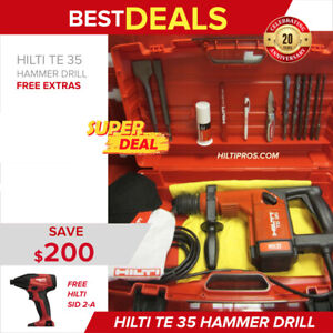 Hilti Te 35 Preowned Free Sid 2 a Extras Original Strong Fast Ship