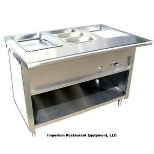 48 Stainless Steel Steam Table Natural Gas 3 Pans Single Burner 20 000 Btu Nsf