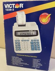 Victor 12 Digit Commercial Professional 1228 2 Lcd Printing Calculator New