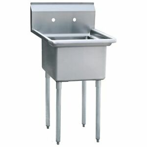 Commercial One 1 Compartment Sink Size Bowl 24 x24 Nsf Approved
